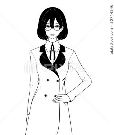 Women / coat and glasses 20744246