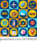 Travel and tourism icon set. Flat designed style 20746038