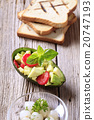 Avocado salad and toasted bread 20747193