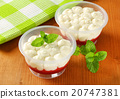 Strawberry shortcake desserts in plastic cups 20747381