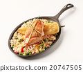 Fried rice and chicken 20747505