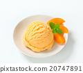 apricot, ice-cream, dessert 20747891