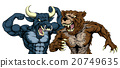 Bear Versus Bull Concept 20749635