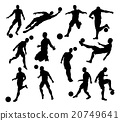 Silhouette Soccer Players 20749641