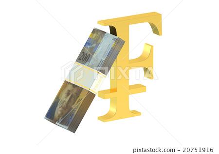 Pack Of Swiss Franc With Franc Symbol Stock Illustration 20751916