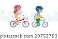 自行車盔甲都市背景的孩子 20752793
