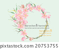 border or frames pink flowers for card 20753755