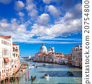 Venice with boats on Grand canal in Italy 20754800