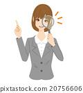 นักธุรกิจหญิงแว่นขยาย 20756606