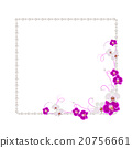 Floral frame with pearls 20756661