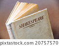 An old book by Shakespeare closeup 20757570