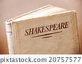 An old book by Shakespeare closeup 20757577