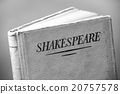 An old book by Shakespeare in black and white 20757578
