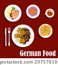 Popular national german cuisine dishes 20757610