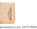 An old book by Shakespeare on white background 20757669