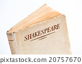 An old book by Shakespeare on white background 20757670