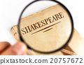 An old book by Shakespeare on white background 20757672