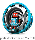 Robot with gear. Isolated. Contains clipping path 20757718
