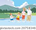 到河畔遠足 在河中嬉戲 家庭 20758346
