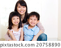 Asian mother and kids 20758890