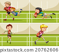 Boys playing rugby in the field 20762606