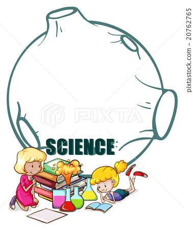 Two girls and science equipment 20762765