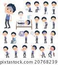 schoolboy Blue vest short sleeved shirt sickness 20768239