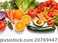 건강한 야채와 과일의 식재료 이미지. 20769447