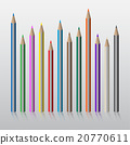 twelve colored pencils 20770611