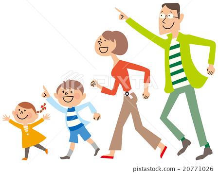 가족 4 명이 달려 온다 20771026