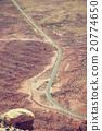 Vintage toned aerial picture of desert road, Utah. 20774650