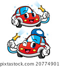 Car Character is Car Wash to Cool. Car Mascot 20774901