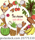 Ice cream and sweets poster 20775330