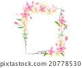 wreath  pink flower for frame or border 20778530