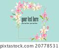 Wreath pink flowers border  20778531