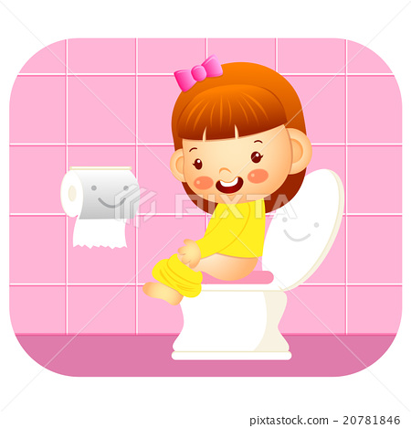 I Go To The Bathroom Education And Life Stock Illustration