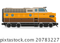railway locomotive train vector illustration 20783227