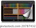 Tablet Computer with Pages and Library 20787432