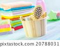 Assortment of soap and towels 20788031