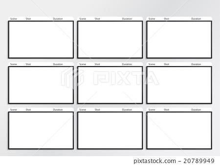 Hdtv Storyboard Template 9 Frame Stock Illustration 20789949 Pixta