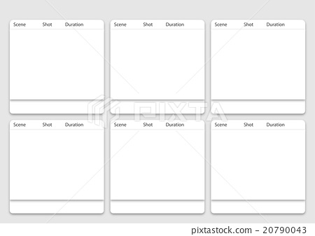 6 Frame Animation Storyboard Template Stock Illustration 20790043