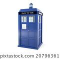 Blue police box isolated on white background 20796361