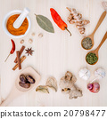 Dried herbs and spices . 20798477
