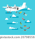 Flat design people skydiving 20798556