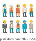 Flat design construction worker vector 20798558