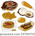 food, foods, okonomiyaki 20799759