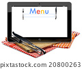 Restaurant Menu in the Tablet Computer 20800263