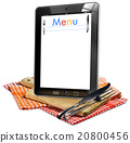 Restaurant Menu in the Tablet Computer 20800456