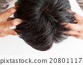 男人 弄皺 頭部按摩 20801117