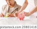 recreational, folded paper crane, elderly 20801416